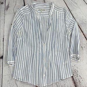 Abercrombie and Fitch cotton blouse 3/4 sleeve